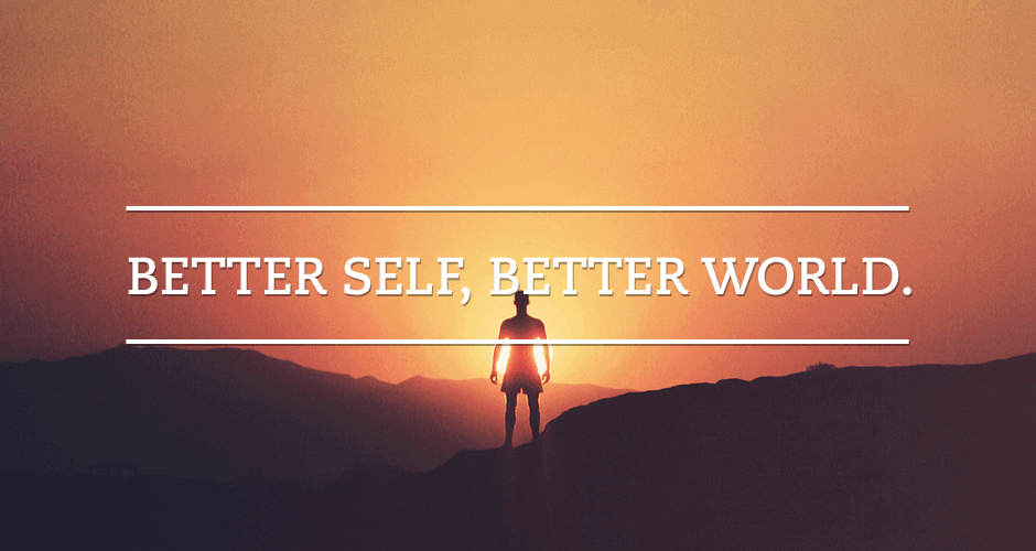 Image with words: Better self - better world. Treatise on money article picture