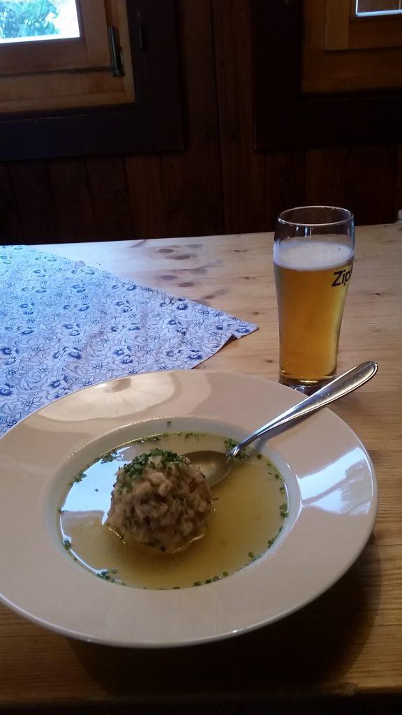 Tasty Supper at Hohenzollernhaus