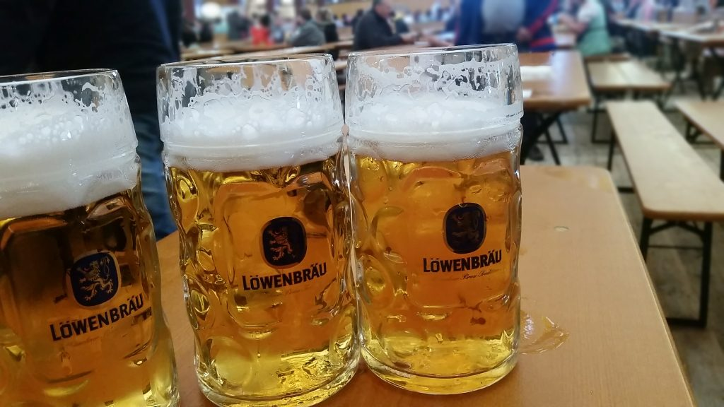 Three large ones on Oktoberfest table