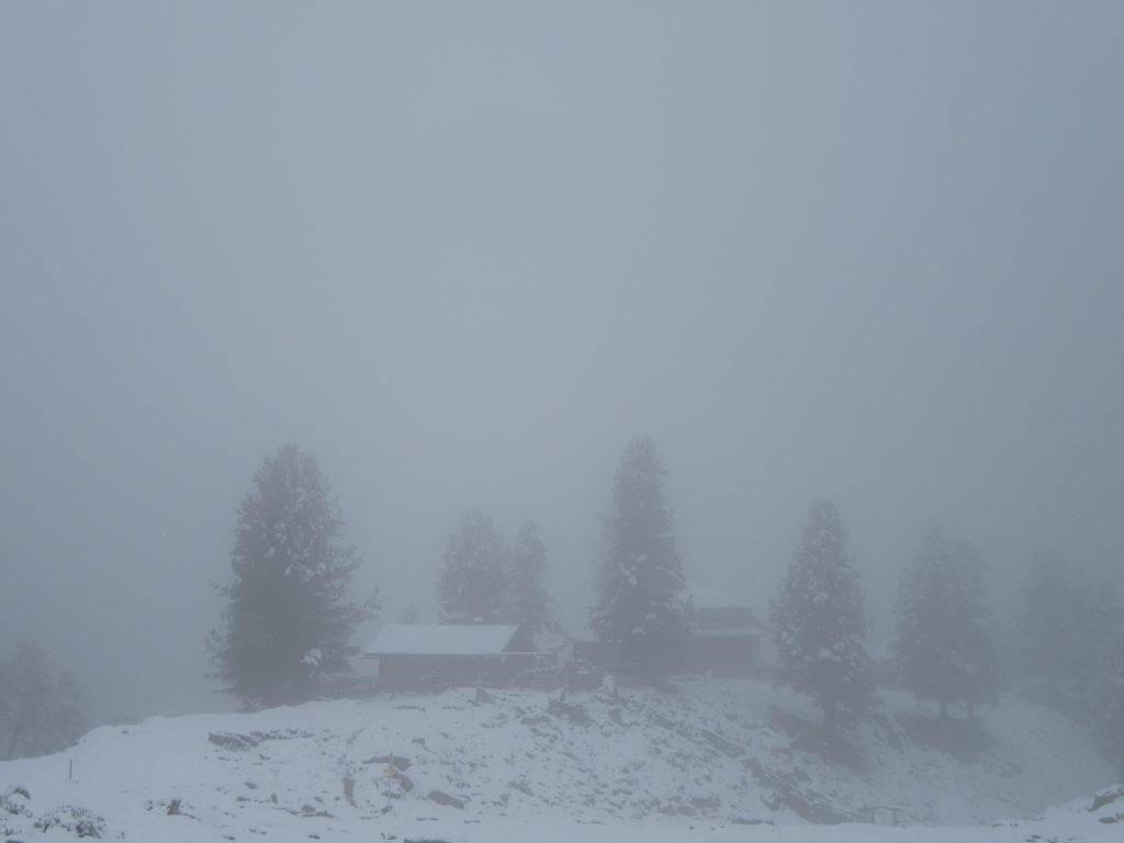Hohenzollernhaus in deep fog