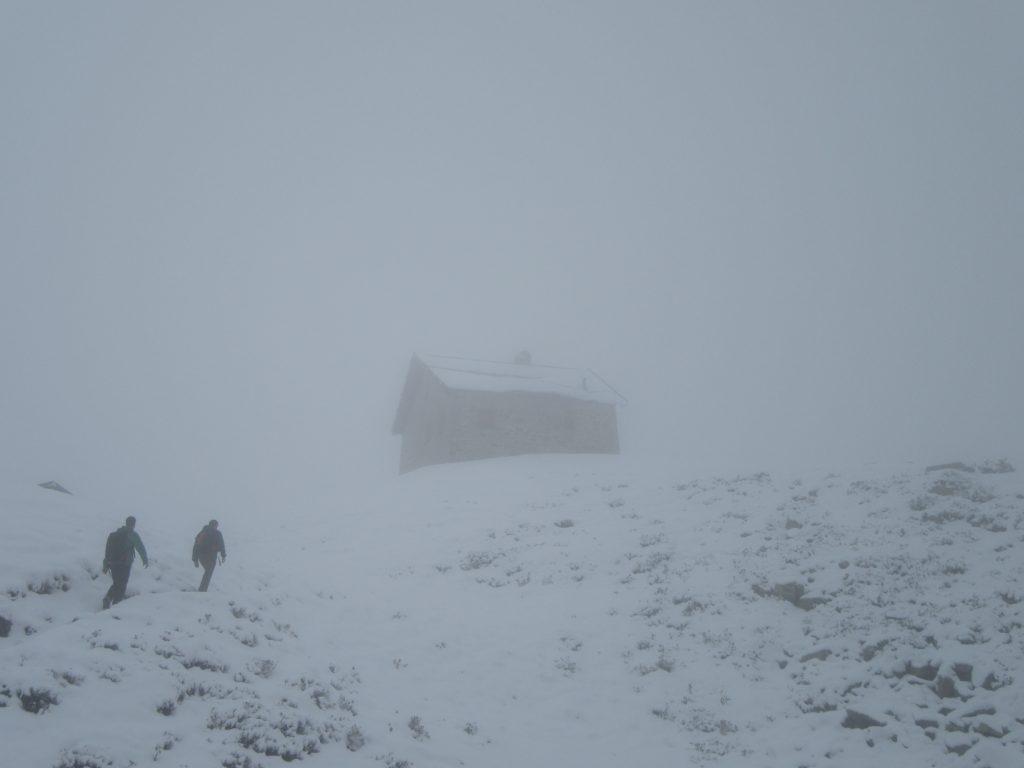 House in deep fog