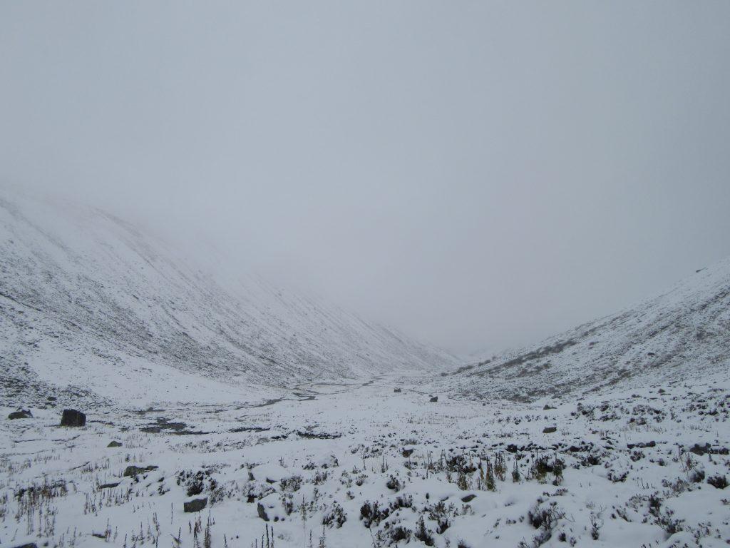 Glockturm valley in fog