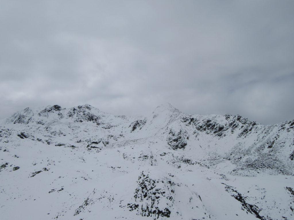 Alps in fog