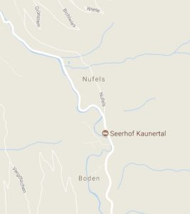 Screenshot of Nufels, googlemaps