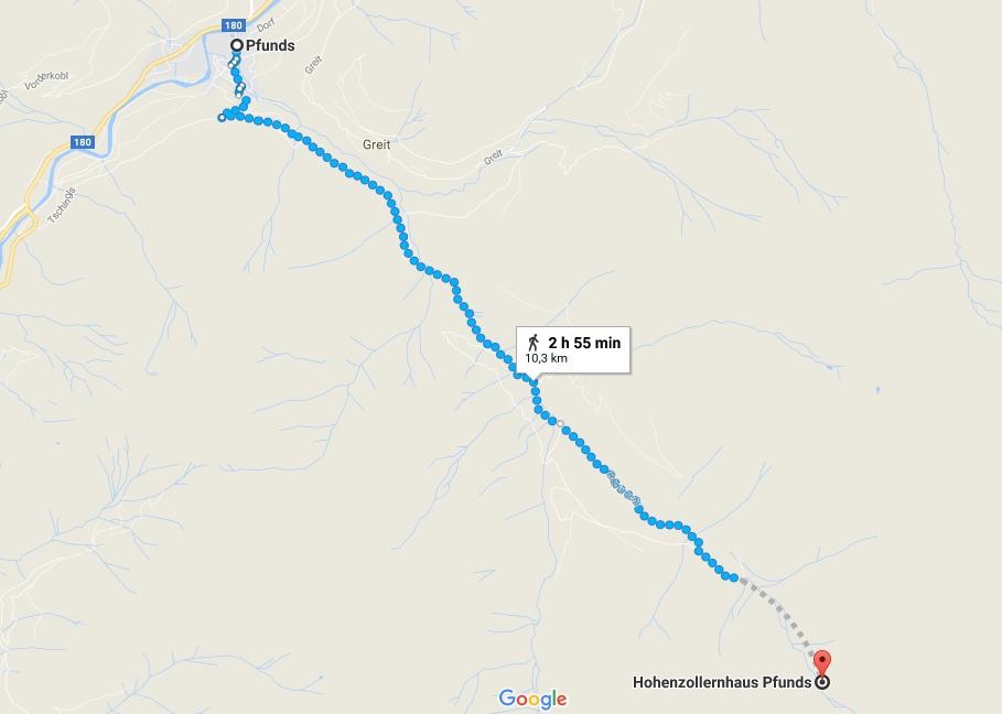 Google Maps screenshot showing where we left the car