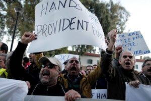 cyprus banks bailout protesters