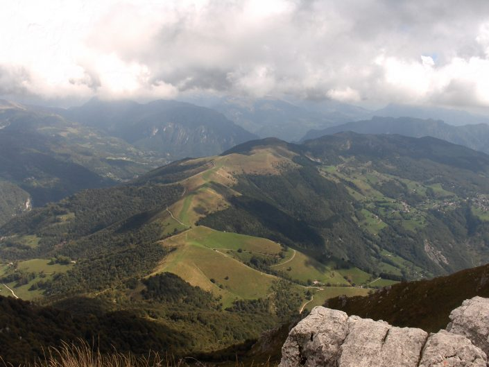 View to North east from Mount Resogne, Italy