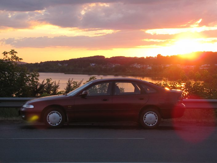 Mazda 626 1992 2.0l profile picture at the sunset near the lake