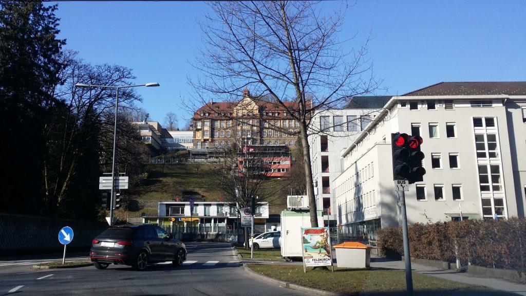 Random picture of street in Switzerland on the way from Leonberg to Vaduz