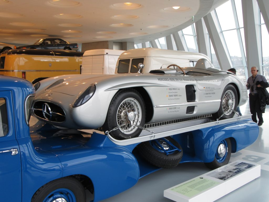 Sports car at Mercedes-Benz Museum