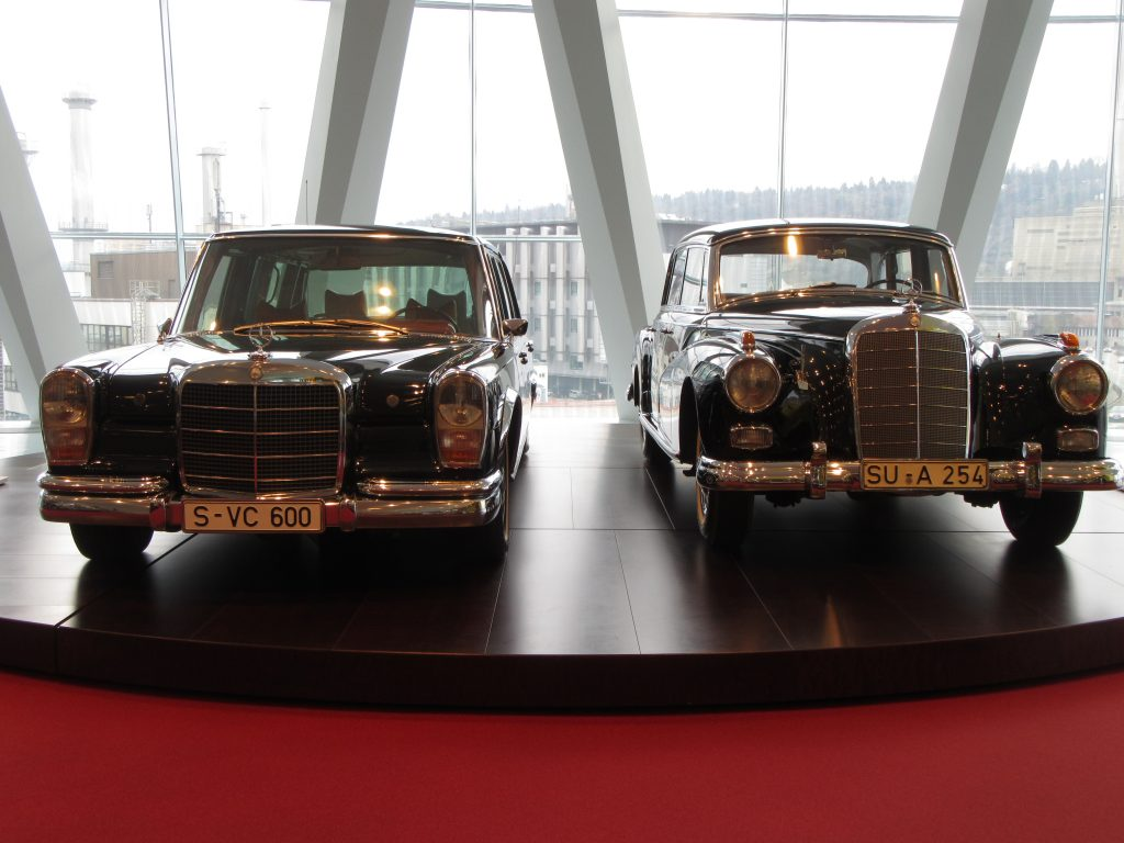 Old Presidents and prime minister's car at Mercedes-Benz Museum