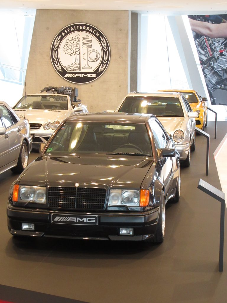 Mercedes-Benz AMG class evolution photo with several cars of AMG class in a row