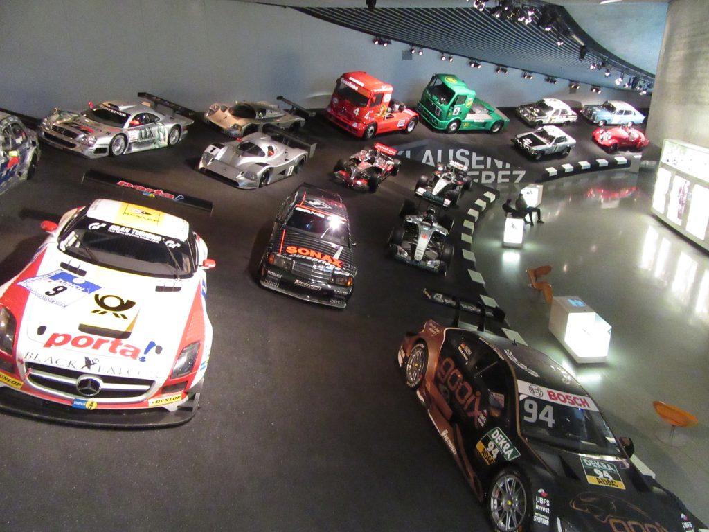 Alley of plenty of racing cars