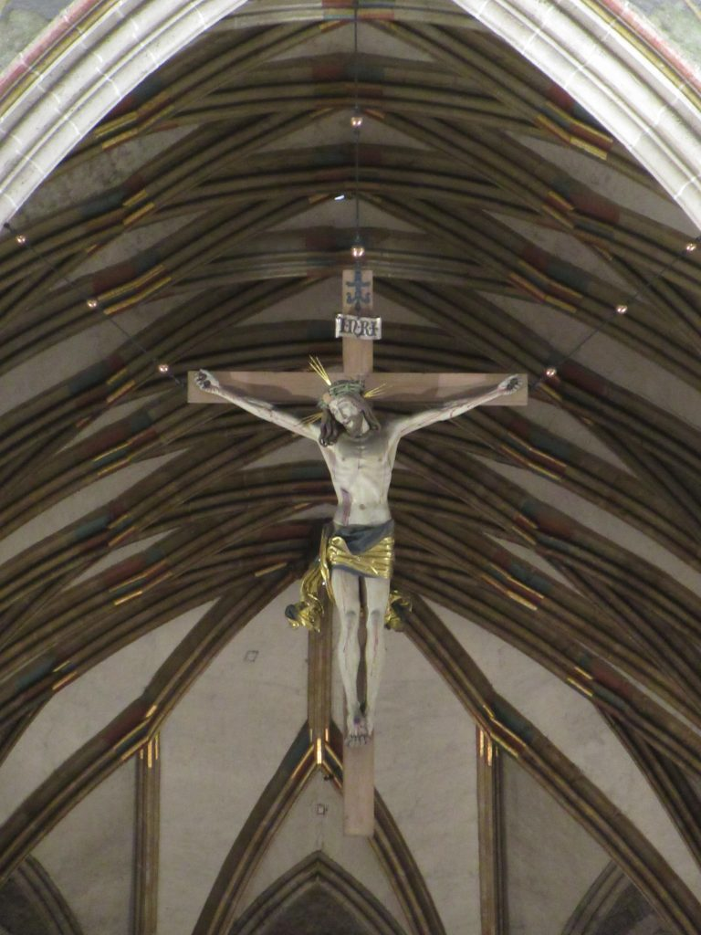 The cross with Jesus on it at Ulm Minister