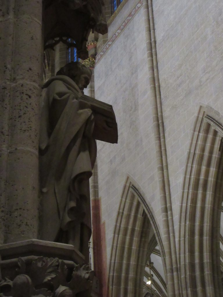 Dude out of stone at Ulm Cathedral