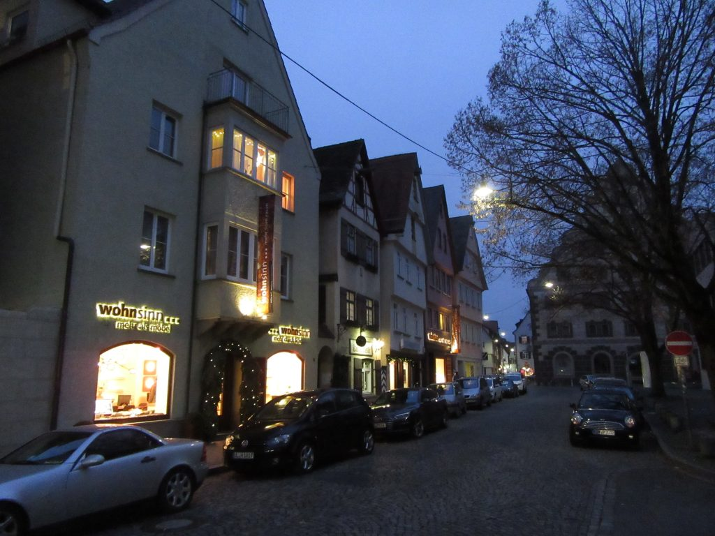 Ulm City center in the evening