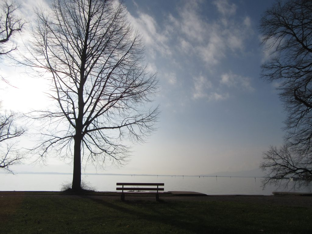Early spring morning at Lindau Lake Bodensee, Germany