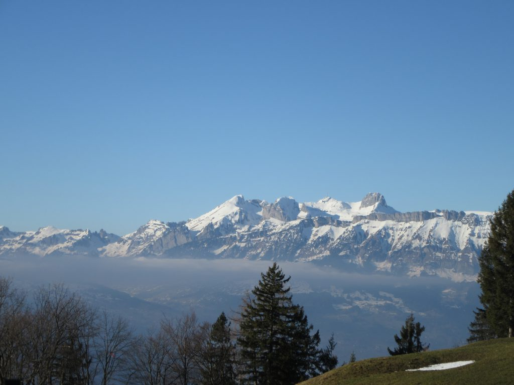 Snowy Alps at Liechtenstein, early Spring