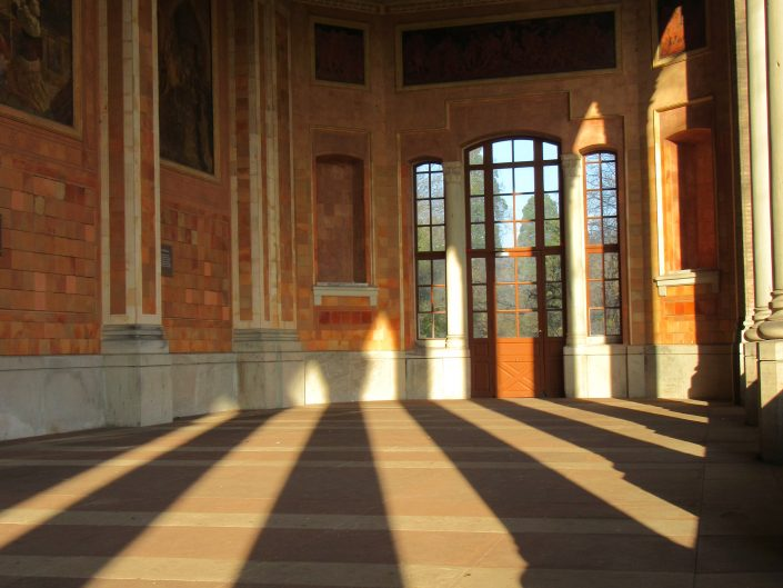 Another travel photography from Trinkhalle morning shadows cast from pillars. From Baden-Baden.
