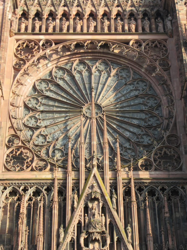 Mandala window at Strasbourg Cathedral de Notre-Dame