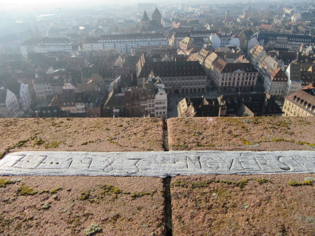 A view from the top of Strasbourg Cathedral de Notre-Dame