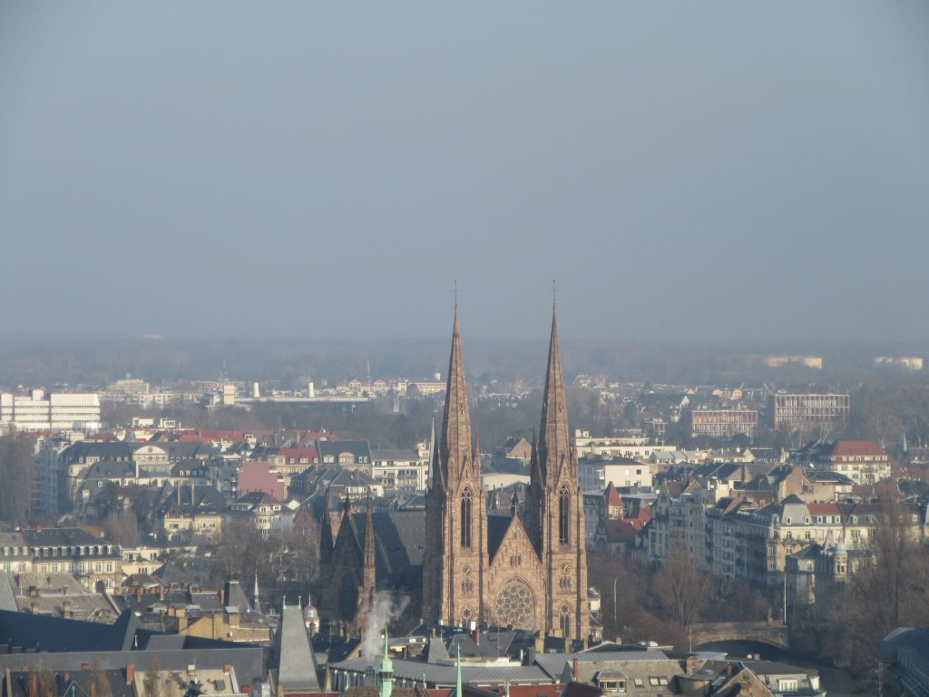 St. Paul's Church (Strasbourg) from the top of Cathédrale Notre Dame de Strasbourg