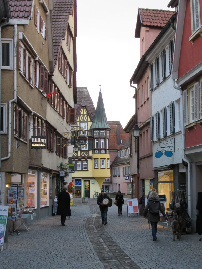 Central streets of Tubingen