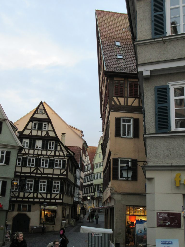 Tubingen central buildings with rooftops sticking out