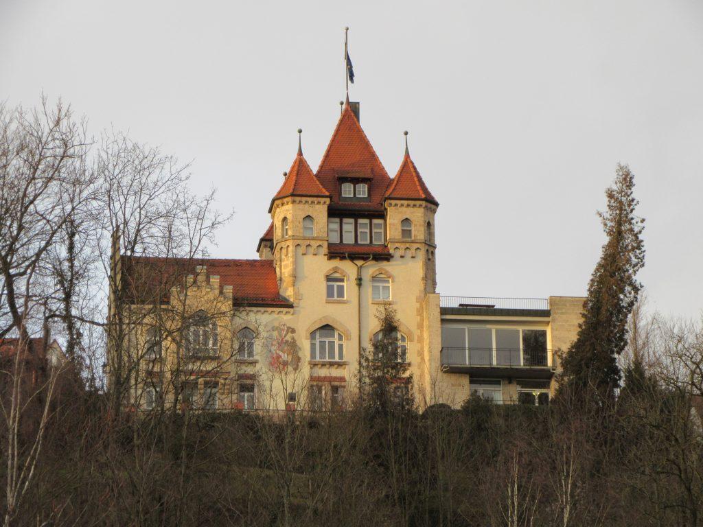 Castle like building on top of Tubingen city