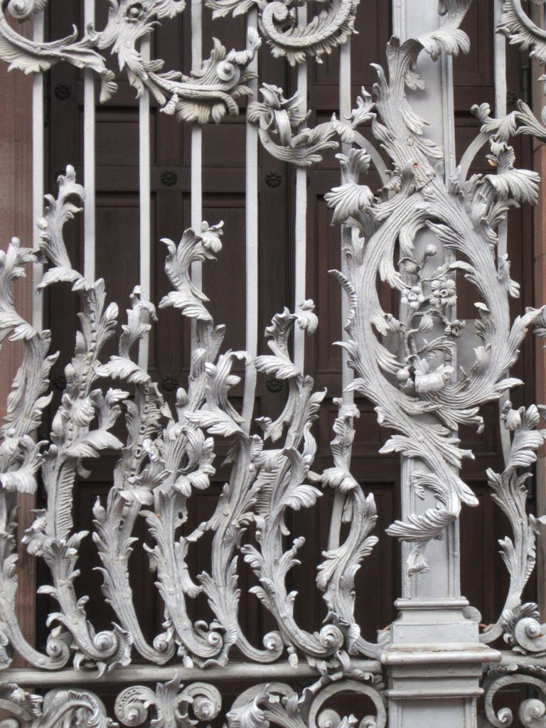 Impressive metal gate at one of Mannheim's church
