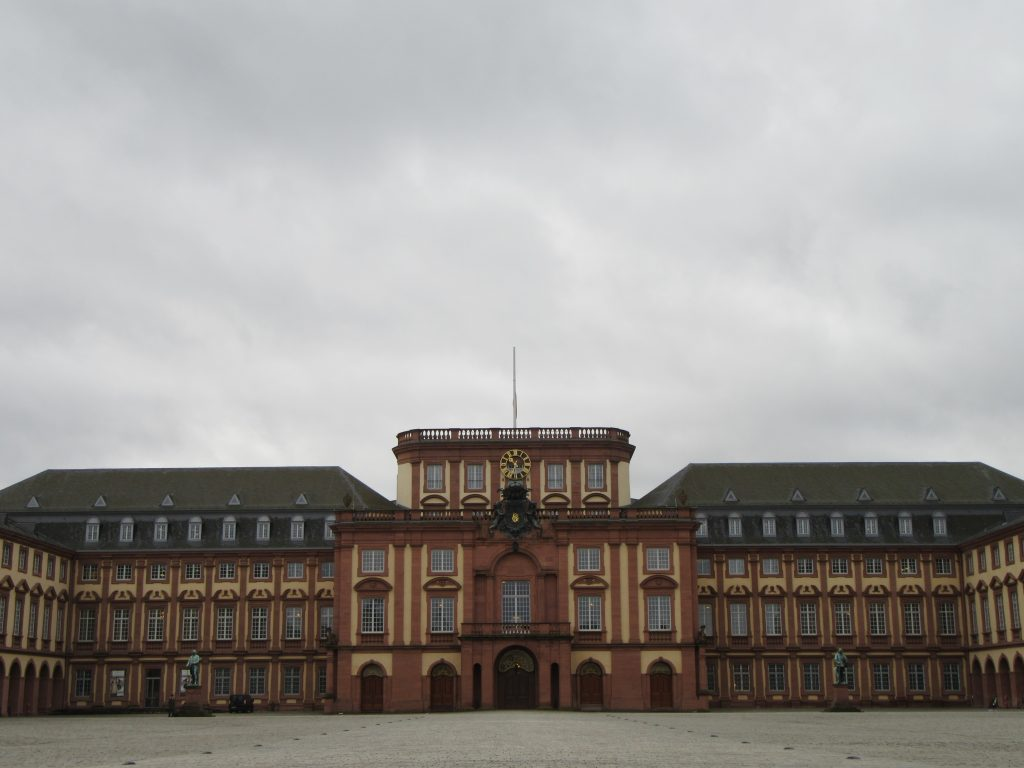 Mannheim palace and square in front of it