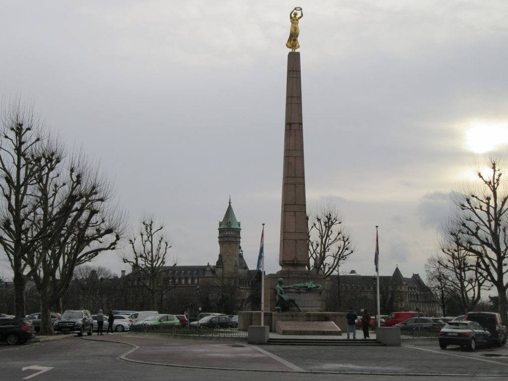 Monument for victims of WWII in Luxembourg full height