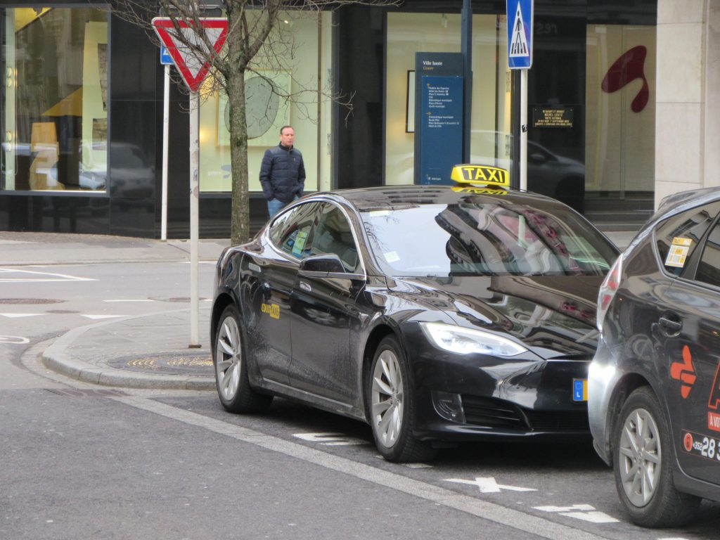 Tesla taxi in Luxembourg