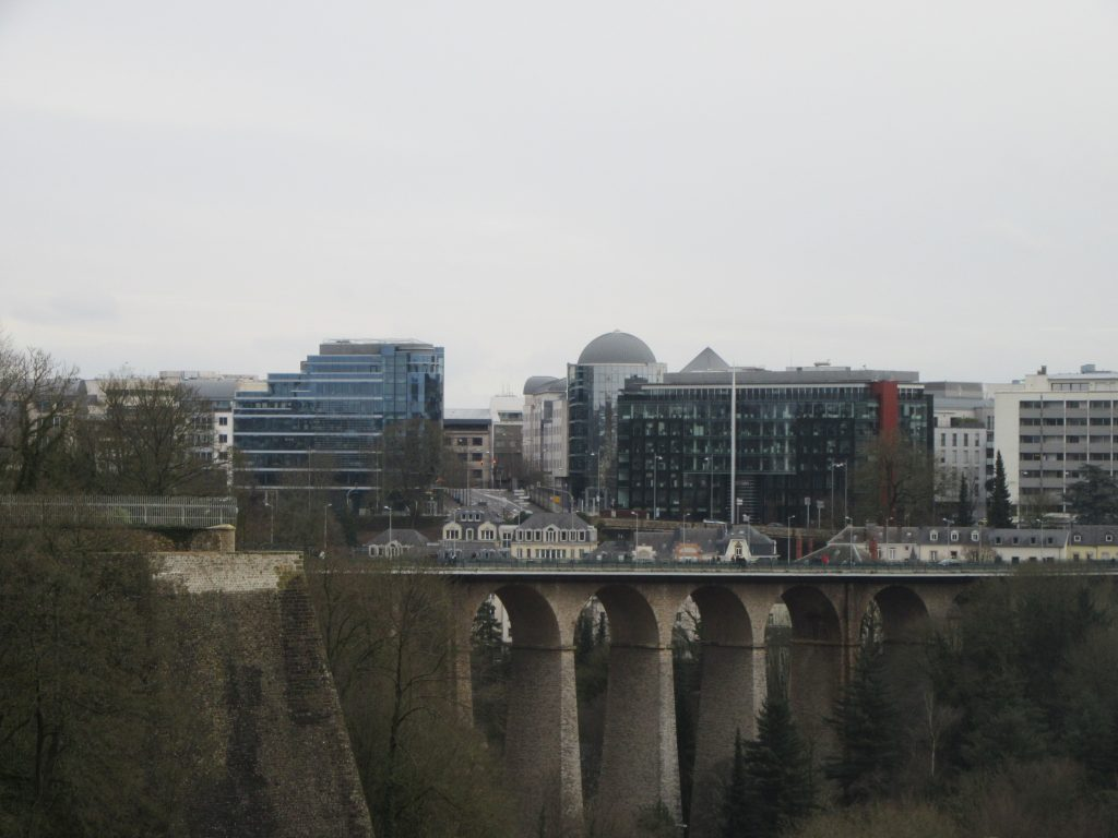 City views from WWII monument, Luxembourg
