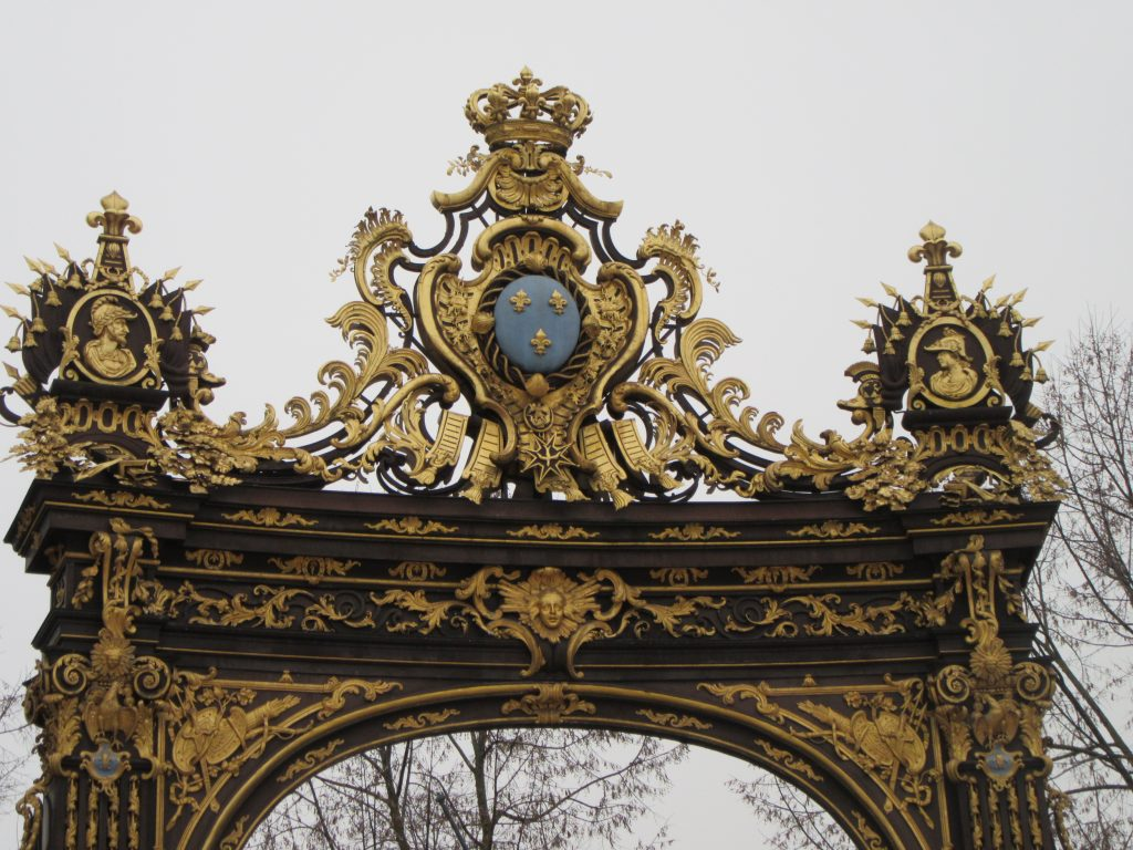 Wonderful upper part gates at Place Stanislas, Nancy, France