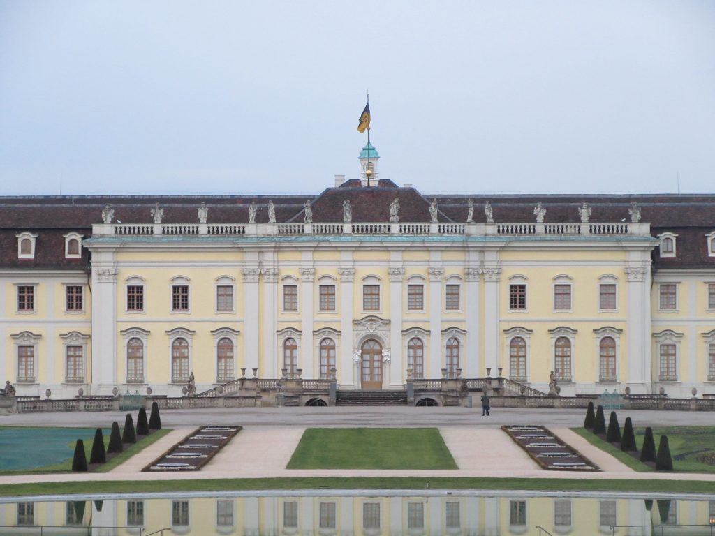 Ludwigsburg Palace from the center with reflection