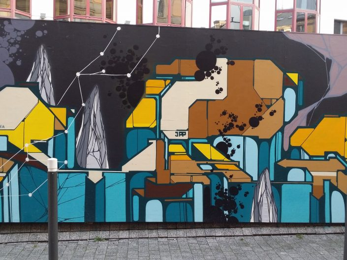 Abstract Street Art Painting in Strasbourg, France 2018
