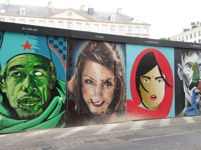 Another collection of Street Art paintings of faces in Brussels, Belgium 2017