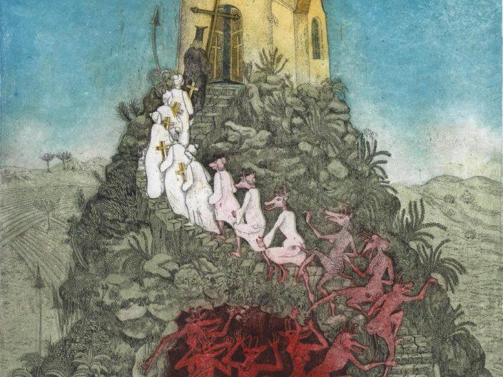 A painting of Peter Croy called Metamorphosis, 1976.