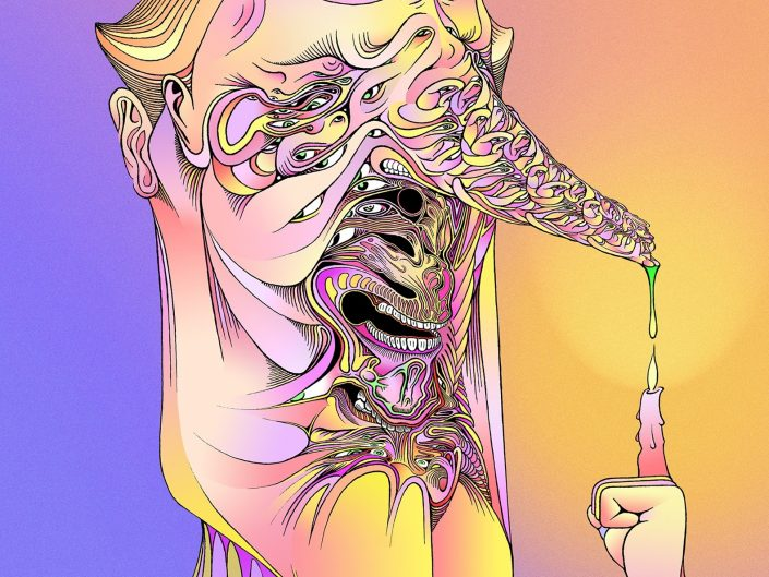 Psychedelic art of Peter Kalyniuk - Booger Burn