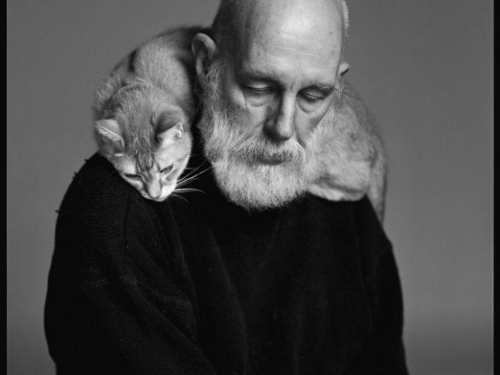 Richard Avedon - Edward Gorey and his cat, 1992