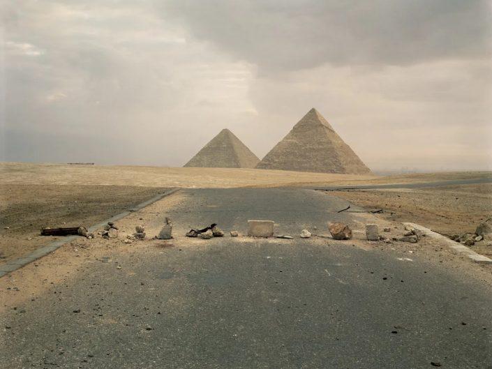 Road Blockade on the road leading to Giza Pyramids