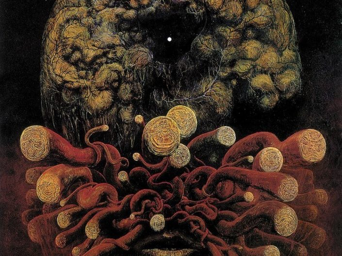 Zdzisław Beksiński - Slowa. Face with macabre art elements