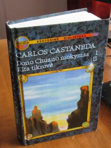Picture of Hard Cover Book by Carlos Castaneda The Teachings of Don Juan and A Separate Reality (in Lithuanian) for book review