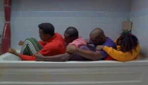 Cool Runnings Crew training in the bathtub