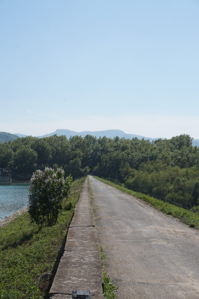 A road in Bulgaria near the lake