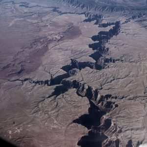 Canyon from the plane - as symbol pain at Vipassana