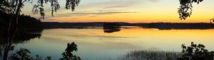 Panoramic view of Bebrusai lake, Lithuania