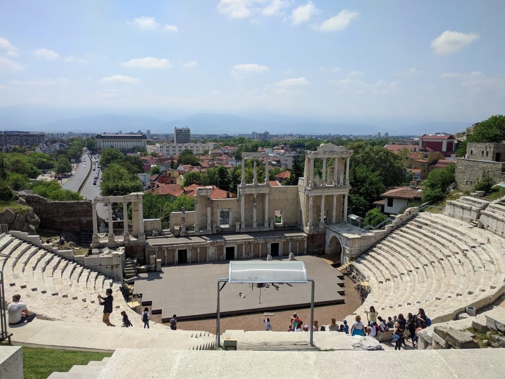 Amphitheater in Plovdiv, Bulgaria