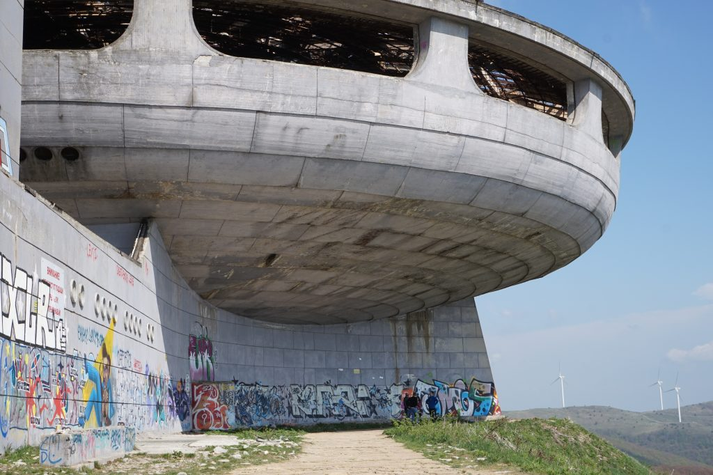 Massive structure of Buzludzha, Bulgaria